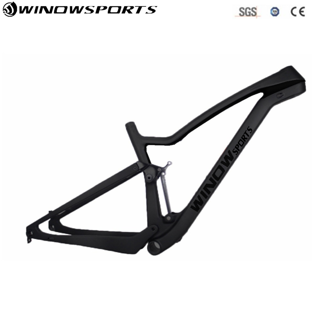 2018 Winow full suspension 29er Carbon Mtb Frame XC 142x12mm Enduro bikes Carbon mountain frame Mtb frame 29 with Painting new 27 5er 650b full carbon suspension mtb frame carbon mtb bicycle frame cheaper chinese factory frame with size 16 18 20