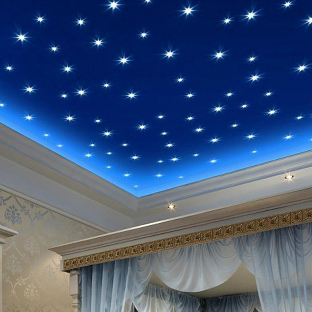 76Pcs/Set Luminous Stars Glow in the Dark Ceiling Wall Stickers Decals Set for Kids Room