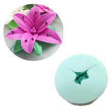 HC0021 Lily 3d Mold Silicone Flower Molds Wedding mould Candle Moulds soap molds aroma stone moulds