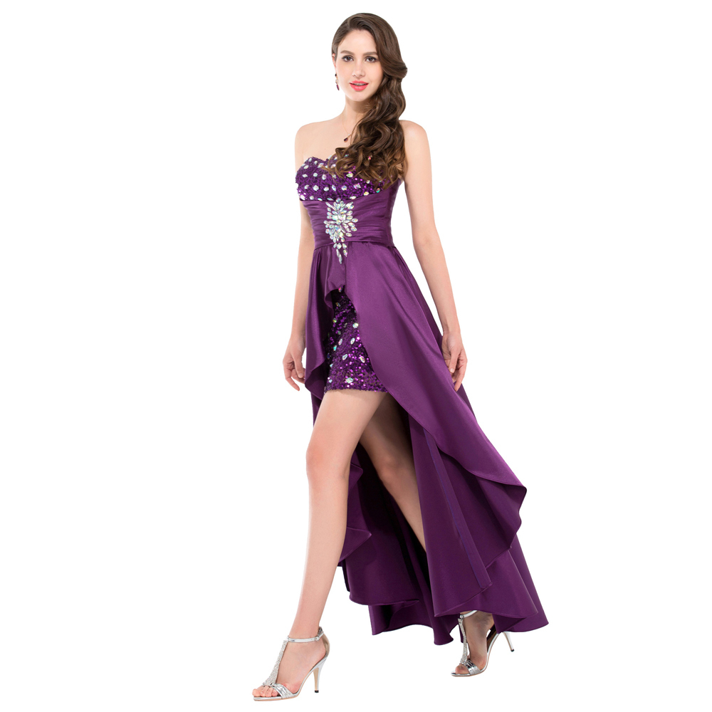 short purple wedding dresses - gown and dress gallery