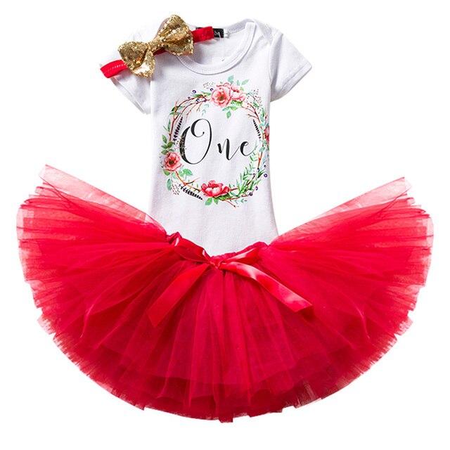 2018 New Cute 1st Baby Girl Birthday Dress Cotton Regular Toddler Children  Mini Princess Clothes Little Girls Summer Daily Wear 75de2a1f8c