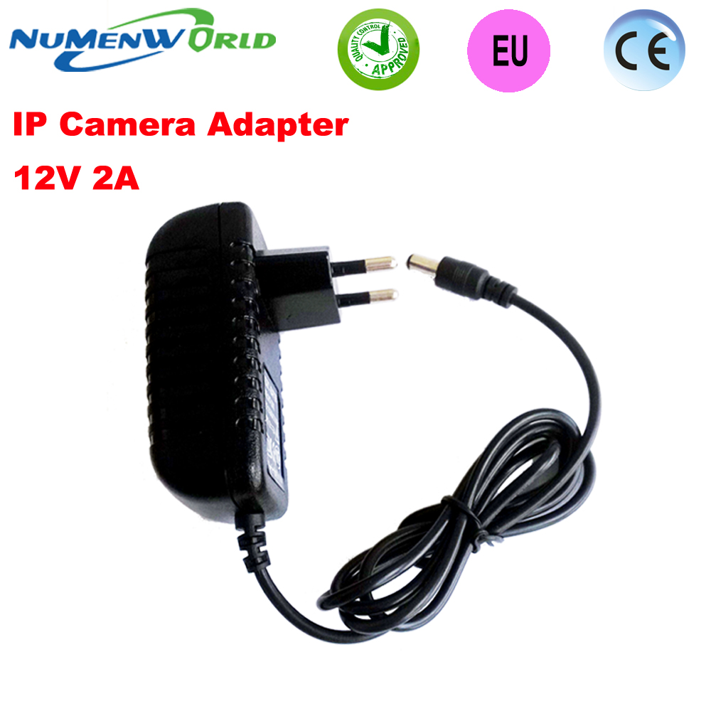 Hot 12V2A good quality Power supply adapter EU European plug for CCTV camera IP camera and DVR,AC100-240V to DC12V2A Converter eu us 12v 2a power supply ac 100 240v to dc adapter plug waerproof for cctv camera ip camera surveillance accessories