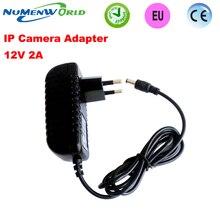 Sıcak 12V2A kaliteli güç kaynağı adaptörü AB Avrupa fişi güvenlik kamerası IP kamera ve DVR, AC100 240V to DC12V2A Dönüştürücü