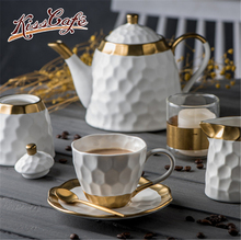 цена на Gold Nordic Minimalism Creative Coffee Beans Storage Matte Surface Ceramic Snack Pot Fresh Tea Can Coffee Container Coffee suit
