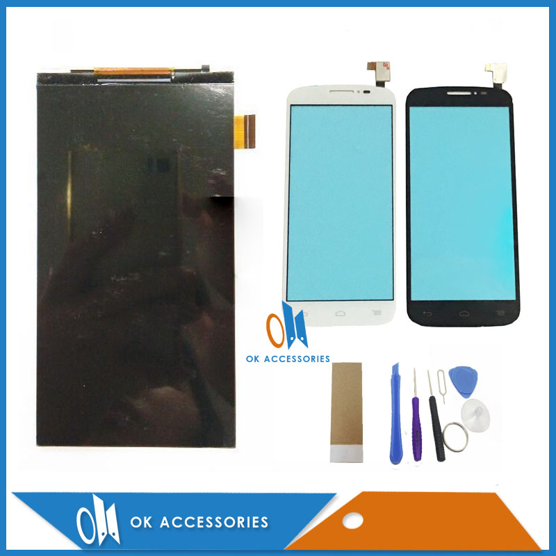 5.0 Black White Color For Alcatel One Touch POP C7 OT7040 7040E 7041D 7040A LCD Display + Touch Screen Digiziter Tools Tape5.0 Black White Color For Alcatel One Touch POP C7 OT7040 7040E 7041D 7040A LCD Display + Touch Screen Digiziter Tools Tape