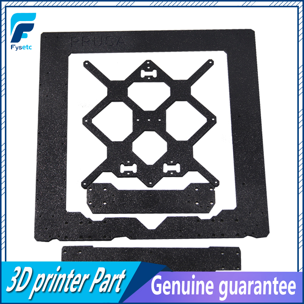 Cloned Original Prusa i3 MK3 Aluminum Alloy Frame + Y Carriage +Front With Rear Plate Set For Reprap Prusa i3 3D Printer Parts