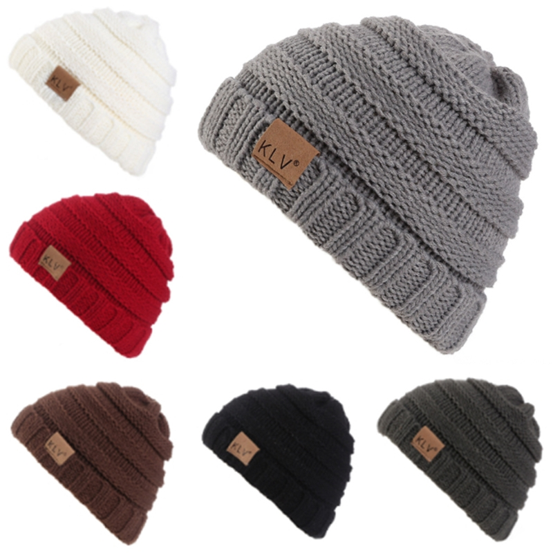 Toddler Kids Boy Girl Baby Winter Warm Crochet Knit Hat Children Ski Beanie Cap