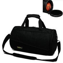 Cool men gym bag new style sport crossbody bag waterproof nylon travel single shoulder bag basketball football training handbags