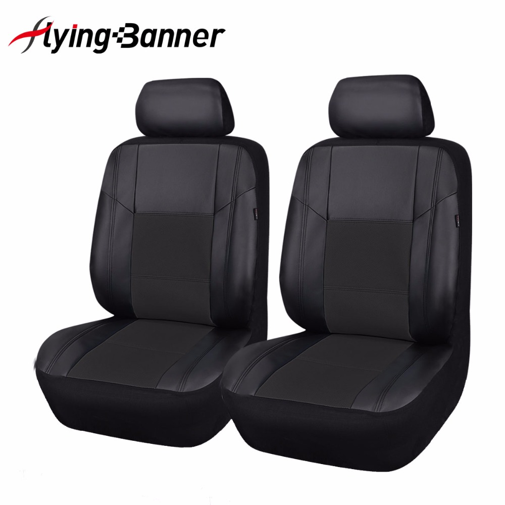 Luxury PU Leather Seat Covers 2 Front Car Seat Cover