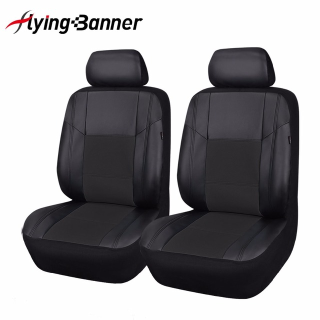 Luxury PU Leather Seat Covers 2 Front Car Seat Cover Universal Auto Interior Accessories For BMW Toyota Mitsubishi Hyundai Seat