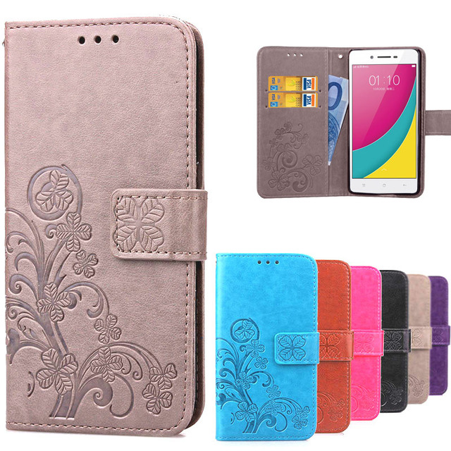Luxury Retro Leather Flip 3D Cartoon Oppo A33 Case A33M A33W Wallet Stand Phone Back Case For OPPO A33 Coque With Card Holder