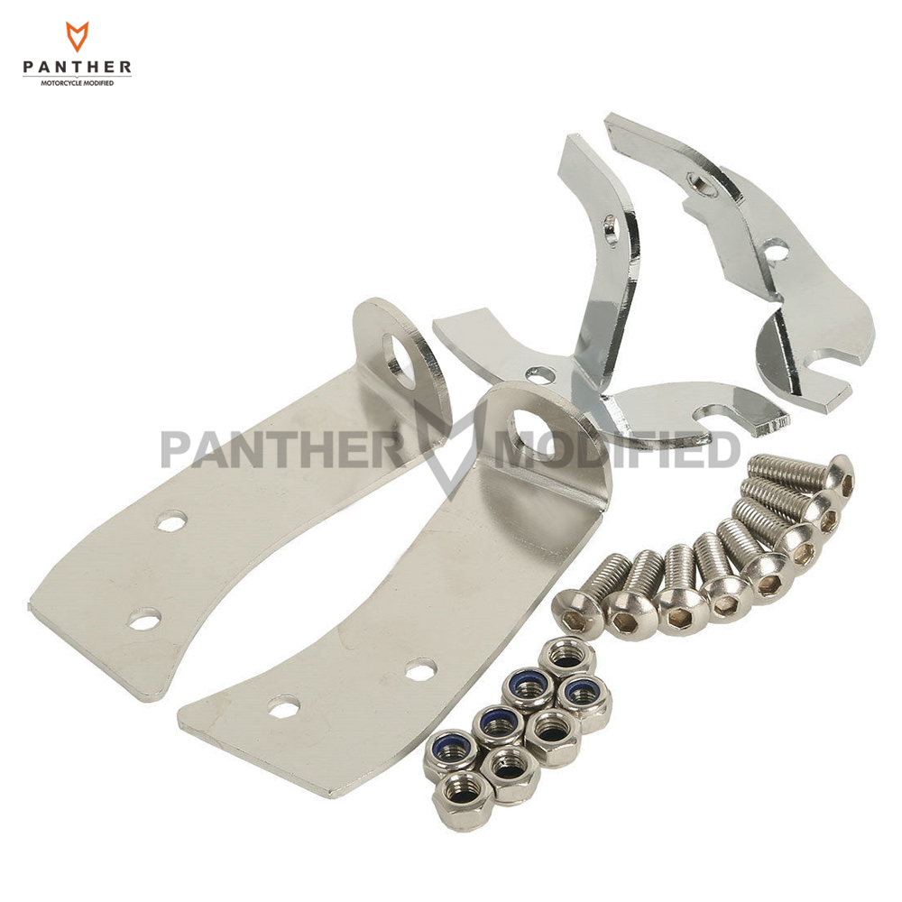 Chrome Motorcycle Batwing Fairing Support Bracket Repair Kit Case for Harley Street Glide Ultra Classic motorcycle saddlebag bracket support bar for kawasaki vulcan vn900 solid steel chrome 24cm 2pcs high quality motorcycle covers