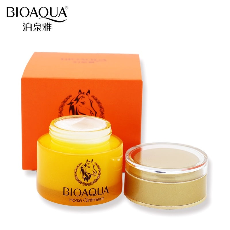 BIOAQUA Horse Oil Skin Care Whitening Deep Hydrating Moisturizing Face Cream Anti Wrinkle Anti-Aging Face Care Day Cream 50g