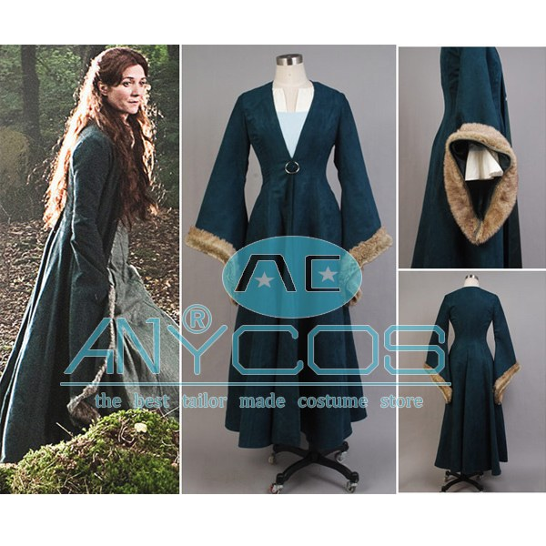 Game of Thrones Catelyn Stark Party Adult Women Full Set Dress Halloween Cosplay Costume Custom-made