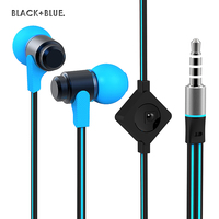 Wallytech Flat Cable Metal Earphone For IPhone6 6plus 5s 5 Samsung S3 S4 S5 S6