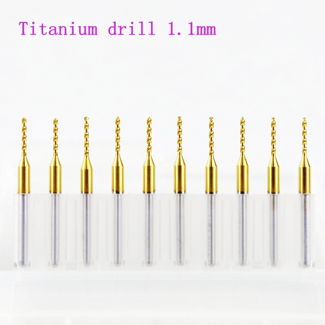 aliexpress com buy pcb titanium drill 10pcs 1 1mm import carbide rh aliexpress com
