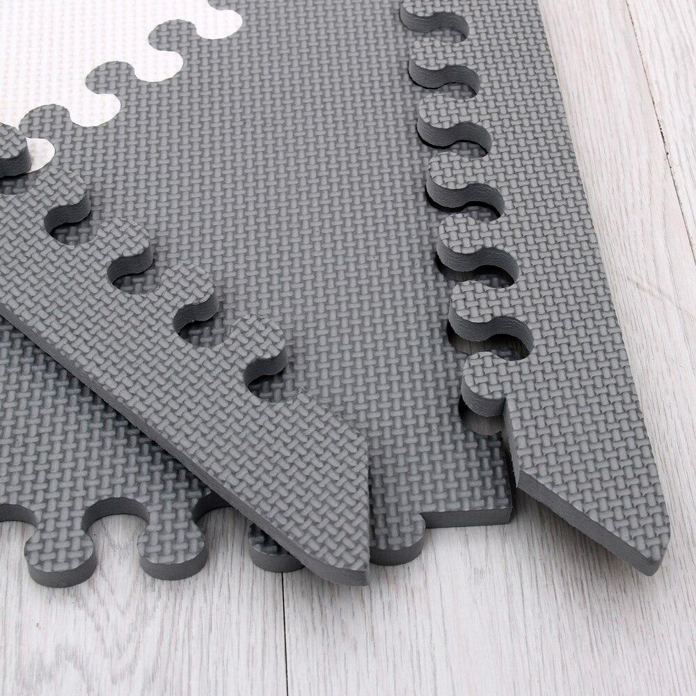 Mei qi cool bébé Puzzle EVA mousse tapis enfants ramper tapis de jeu enfants tapis de jeu Gym sol doux jeu tapis triangle 35 CM * 1 CM gris - 3