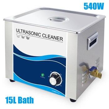 超音波洗浄機 15L 540 ワット圧電トランスデューサ電源ステンレスバス歯科実験装置タイマーワッシャー