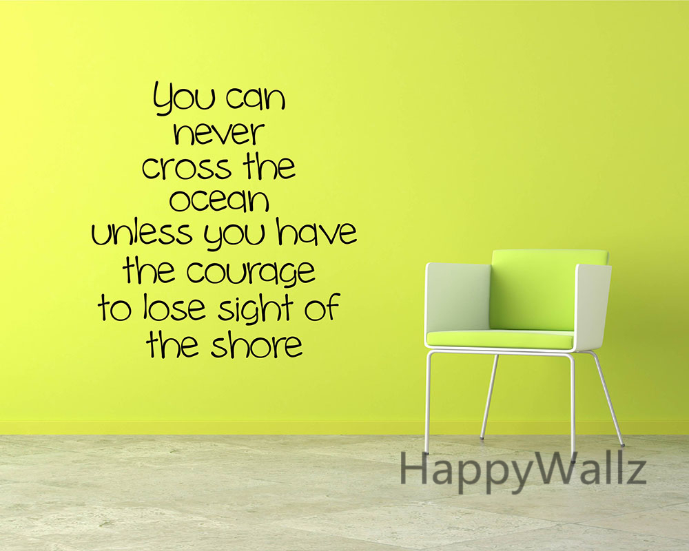 Courage Motivational Quote Wall Sticker DIY Decorative Courage Inspirational Quote Office Vinyl Wall Art Decal Custom Colors Q96