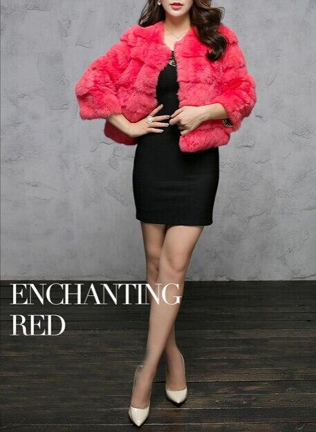 Nouveau Manteau khaki black Bas yellow Livraison Fourrure rose Femmes Kfp456 Veste Vente Gratuite red Lapin Beige Mode Qualité Réel Bonne De gArxqg1