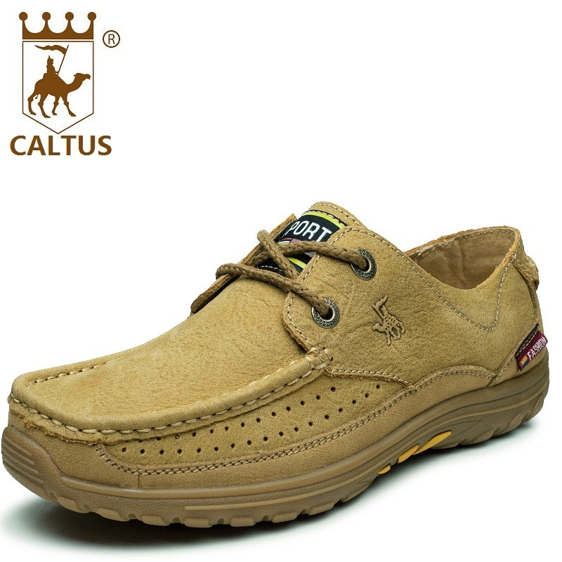 CALTUS Male Casual Shoes Soft Footwear Classic Oxfords Men Flats Genuine Leather Wedding And Party Shoes AA20525 male casual shoes soft footwear classic flats men genuine leather shoes good quality working shoes size 38 44 aa30059