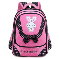 Children Rabbit Backpack Girls Pink Large Capacity School Bags For Kids Backpacks Girl's Book Ladies Schoolbag Mochila BP0167