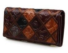 3 Design Echtes Leder Handtasche Frauen Brieftasche Billfolds frauen Clutch Geld Halter 8095