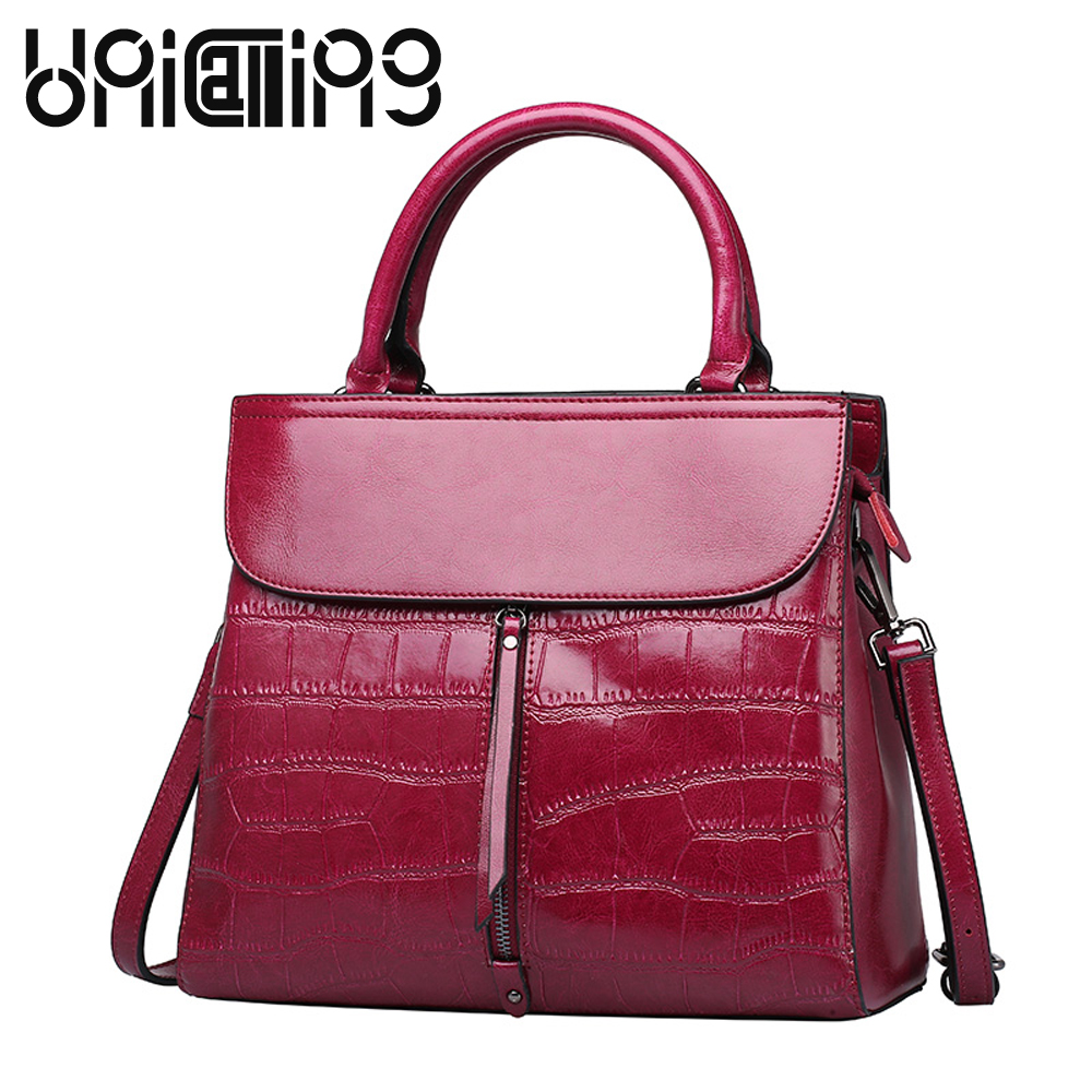 UniCalling brand women bag cow split leather fashion stone pattern embossing ladies shoulder bag female fashion bag Factory SaleUniCalling brand women bag cow split leather fashion stone pattern embossing ladies shoulder bag female fashion bag Factory Sale