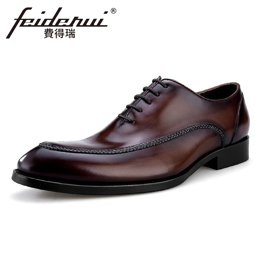 2018 New Arrivla Genuine Leather Men's Oxfords Formal Dress Round Toe Lace-up Man Flats Luxury Designer Cow Male Shoes BQL55 2016 new fashion designer brand cowhide formal flats genuine leather dress derby style lace up round toe shoes for men mgs707 page 1