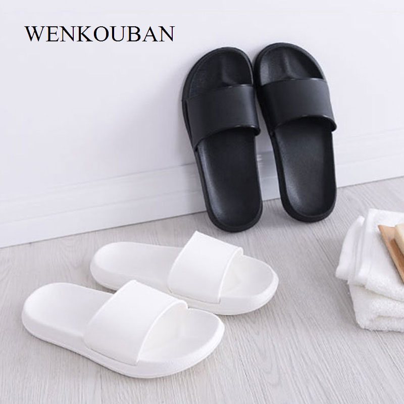 Plus Size 37-45 Flat Sandals Women White Sandals Beach Shoes Summer Shoes Couples Slippers Ladies Sandalias Mules Zapatos Mujer summer sandals women clogs beach slipper women shoes casual sneakers women flats sandals ladies shoes zapatos mujer