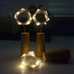 Image 2 - Included Battery Powered Garland Wine Bottle Lights with Cork Copper Wire Colorful Fairy Lights String for Party Wedding Decor