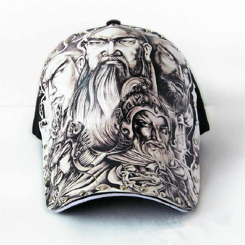 Original 3D printing Chinese style Generals guan yu Japanese god Baseball Cap men WOMEN Fashion Snapback cap Hip Hop Hat