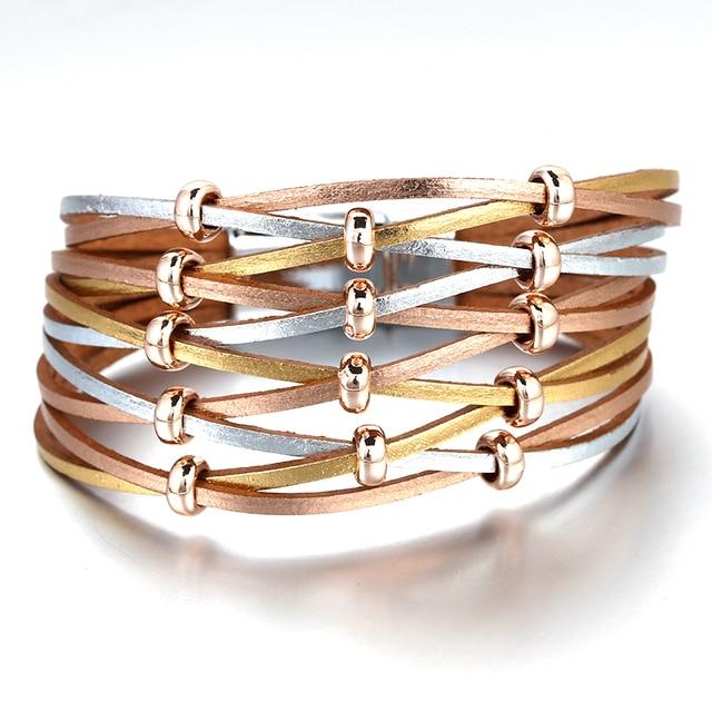 Multilayer Wide Wrap Bracelet product display