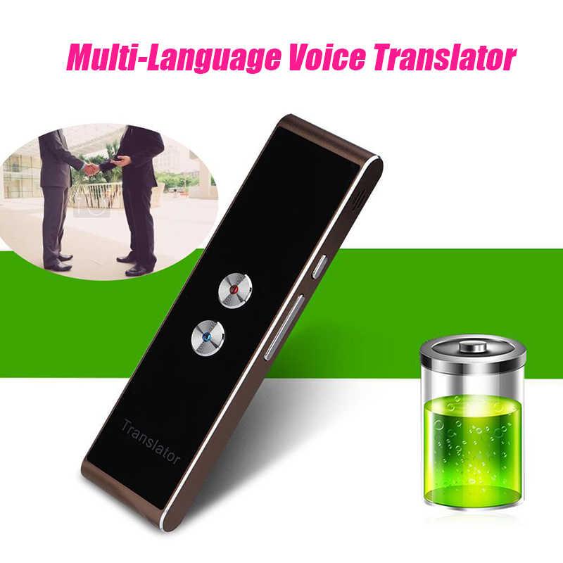 Портативный Умный голосовой переводчик обновленная версия для обучения путешествий бизнес-встречи 3 в 1 голосовой текст фото переводчик языка