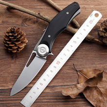 2016 New tactical folding knife hunting camping pocket knife D2 blade G10 handle survival utility knives EDC hand tools