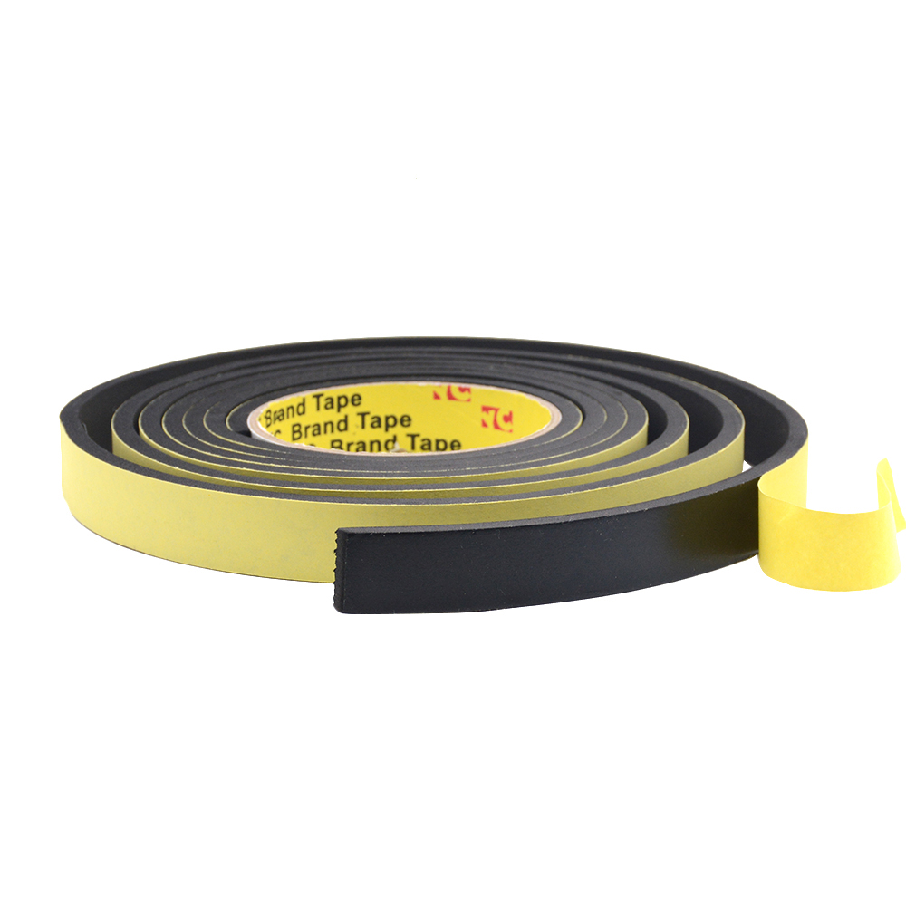 10M *1mm 5m*10mm*2mm/3mm Single Sided Adhesive Waterproof Weather Stripping Foam Sponge Rubber Strip Tape Window Door Seal Strip
