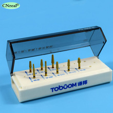 1 set High Speed Diamond Burs - Dental Kit for Veneers Preparation Teeth Porcelain/Alloy Inlay/Onlay (8 pcs/kit) FG0908D