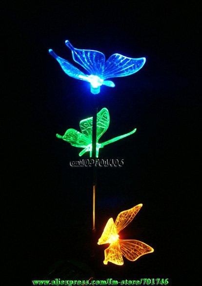 Three Erfly Solar Lawn Light Outdoor Decorative Lights Led Lamp 4pcs Lot