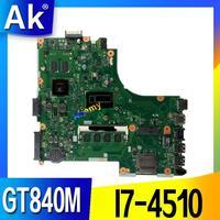 ل For Asus X450LD X450LN Y481L F450L اللوحة الأم اختبار 100% العمل الأصلي اللوحة الرئيسية I7-4510 4 جيجابايت ذاكرة GT840M
