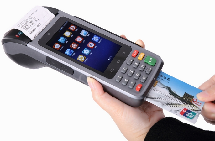 NFC IC Card RFID Reader Android Barcode Scanner Terminal Wireless Handheld POS Terminal PDA