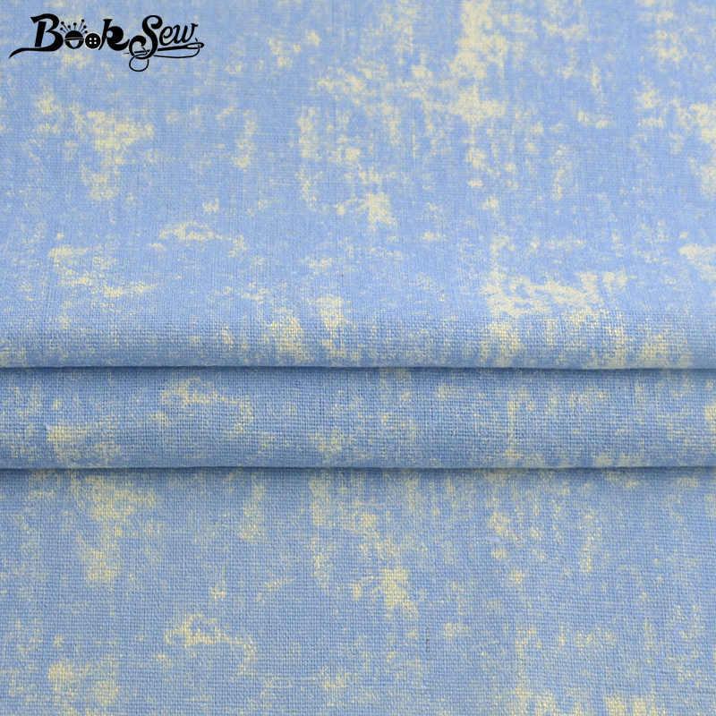 Booksew Katoen Linnen Ankara Stof Voor Kleding Gedrukt Blauw Tela Tissus Au Meter Patchwork Naaien Materiaal Tas Gordijn Doek