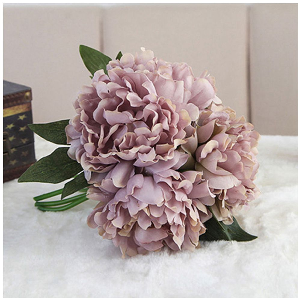Compare prices on blue peony silk flowers online shoppingbuy low hot sale artificial fake peony silk flower bridal hydrangea home wedding garden decor mysterious blue dhlflorist Images