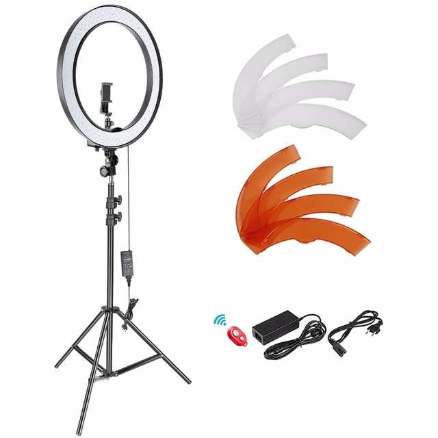 Neewer 18-inch Outer Dimmable SMD LED Ring Light Lighting Kit for Camera Photo Studio