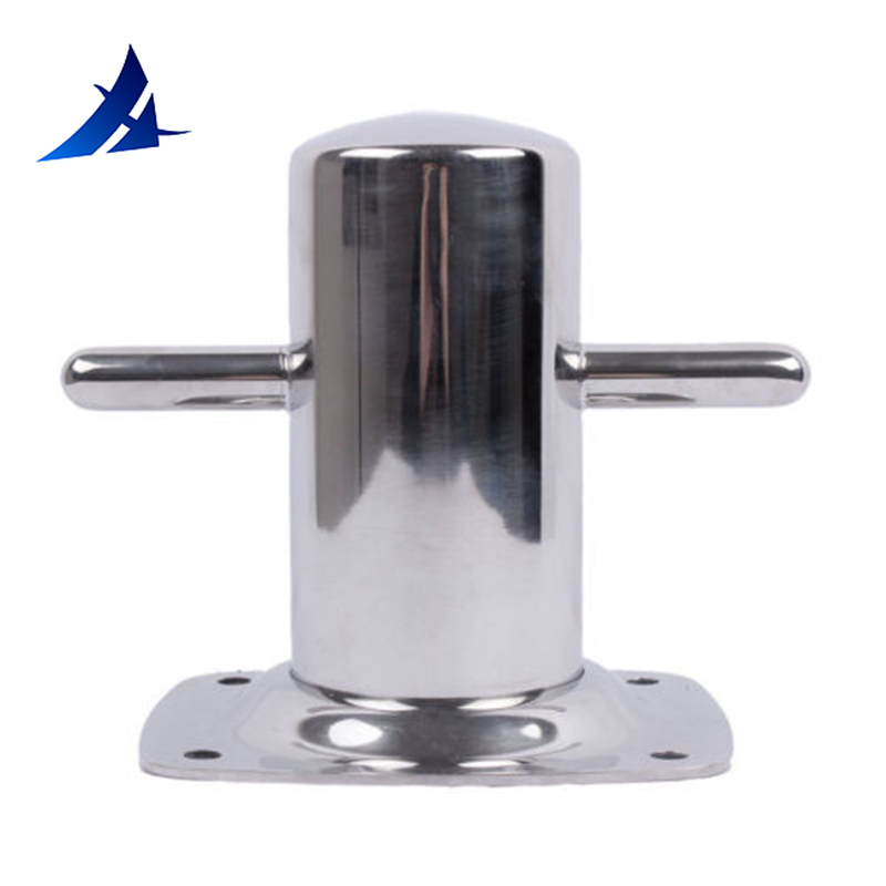 "Boat Parts Accessories 316 Stainless Steel 6"" Single Cross Bollard With Baseplate Mooring Cleat Marine"