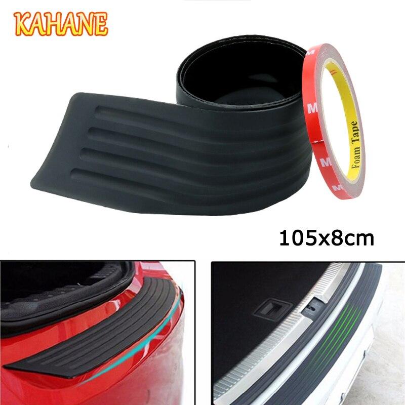 KAHANE 105 см автомобильный внедорожник защита заднего бампера резиновая Накладка на порог багажника Накладка для Nissan Qashqai Juke Kia Sportage Rio