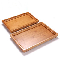 Japan Style Solid Bamboo Tray for Storage Tea Ceremony Kungfu Tea/snacks/fruit Wooden Service Plate Teapot Teacup Tray L S Size