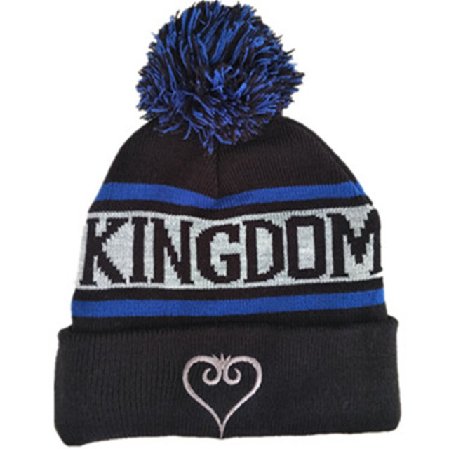 9ae98e6c5d77f7 Cartoon Anime Games Shadow Heartless Hat / Kingdom Hearts II 2 Plush Cap  Cosplay Cotton wool knitting Soft Beanies hat with Pom