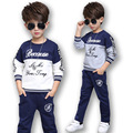 Boys Sports Suits Cotton Letter Clothing Sets For Boys Tracksuits Spring Autumn Kids Outfits 3 7 9 11 Years New Year Sportswear