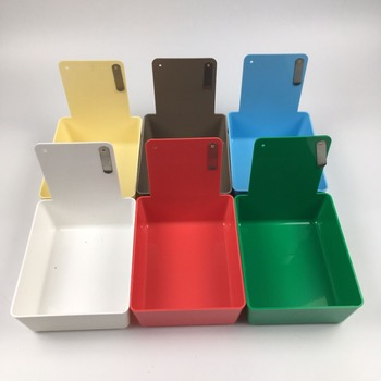 14 pcs/lot 7 colors Dental Lab Tools Dental plastic work boxes Colorful Dental Work Pans with Clip Holder for hold teeht model