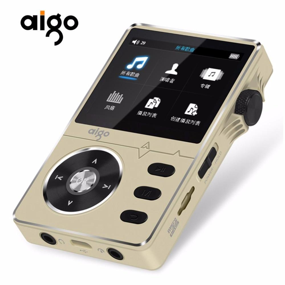 Angemessen Goldene Aigo 108 Zink-legierung Hohe Qualität Hifi Musik-player 2,2 8 Gb Mp3-player Unterstützt Ape/flac/wma/wav/ogg/acc/mp3 Modernes Design Hifi-geräte